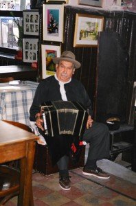 Bandoneon player in La Boca, Argentina
